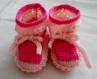Chaussons bébé - rose