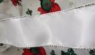 Ruban blanc - liseré argenté -  spécial fêtes