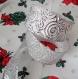 Ruban blanc argenté - large - spécial fêtes