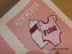 Carte personnalisable naissance fille fleur