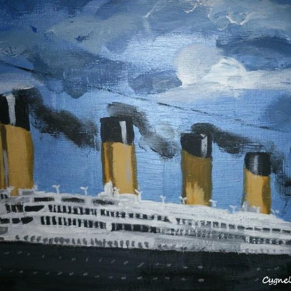 Dessin Du Bateau Le Titanic Art Peintures Par Cygnelandarts