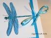 Carte libellule bleue