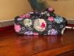 Furoshiki pour lunch box en tissu japonais fond noir et ballons traditionnels