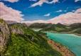 Tableau lac d'annecy depuis le mont veyrier