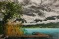 Ressourcement au lac d'annecy (tableau peinture acrylique)