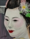 Geisha#24...songeuse (peinture acrylique)