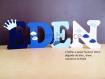 Lettre en bois, prénom en bois, lettre à poser, prénom à poser personnalisé thème couronne