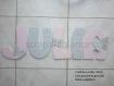 Plaque de porte / lettre à coller / prénom à coller / lettre en bois / prénom en bois theme papillon 20cm