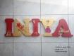 Lettre prénom en bois, prénom en bois,lettre décoration chambre, lettre décoration bébé, lettre à poser, prénom à poser personnalisé thème princesse,  20cm de hauteur