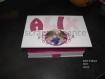 Boîte à bijoux personnalisé pour petite fille, coffre de rangement à bijoux, coffret de rangement bijoux, 28x17cm thème princesse couleur fuchsia et blanc