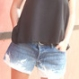 Short en jean lose and bleached