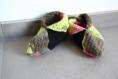 Chaussons en laine multicolores au crochet taille 37-38