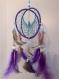Attrape rêve sphérique de 15 cm de diamètre couleur fuchsia