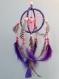 Attrape rêve sphérique de 10 cm de diamètre couleur fuchsia