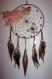 Attrape rêve / capteur de rêve circulire fantaisie rose poudré de 20 cm