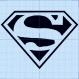 Motif de broderie superman