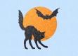 Motif de broderie haloween chat