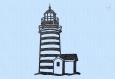 Motif de broderie phare breton