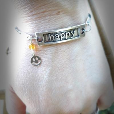 Bracelet happy avec smiley