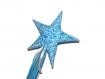 Baguette de fée ou de princesse en tissu bleu