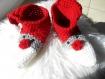 Chaussons de noël au crochet, chaussons d'intérieur au crochet