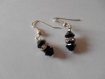 Boucles d'oreilles perles swarovski strass, boucles d'oreilles mariage
