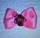 Barrette avec noeud en satin rose pour petits chiens