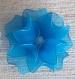 Bougie led avec fleur bleue en voile nylon 12 pétales   réf.126