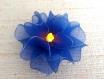 Bougie led avec fleur bleue en  nylon 12 pétales   réf.128