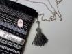 Sac à main avec bandoulière et son porte-carte argent et noir - veste de soirée, elsa schiaparelli - musée de philadelphie.