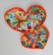 Quilling décoratif coeurs entrelacés tableau à poser ou à accrocher