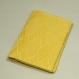 Etui porte-cartes en tissu damassé jaune