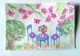 Instant détente, carte postale aquarelle