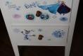 Meuble a tiroirs pour petite écolière reine des neiges