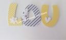 Lettres en bois prénom 3 lettres 8cm