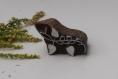 Tampon batik indien lierre en bois sculpté à la main, pochoir - btm16