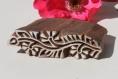 Tampon batik indien frise fine en bois sculpté à la main, pochoir - btm11