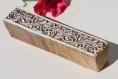 Tampon batik indien frise en bois sculpté à la main, pochoir - btm5