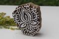 Tampon batik indien typique en bois sculpté à la main, pochoir - btm27