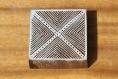 Tampon batik indien carré en bois sculpté à la main, pochoir - btm28