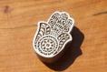 Tampon batik indien en bois sculpté à la main, pochoir, planche à imprimer - btm32