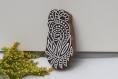 Tampon batik indien en bois sculpté à la main, pochoir, planche à imprimer - btm29