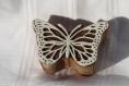 Tampon batik indien papillon en bois sculpté à la main, pochoir - btm2