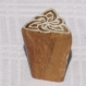 Tampon batik indien en bois sculpté à la main, pochoir, planche à imprimer - btm33