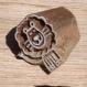 Tampon batik indien en bois sculpté à la main, pochoir, planche à imprimer - btm38