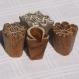 Lot de 4 tampons batiks indiens en bois sculpté à la main, pochoir - btm31