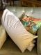 Bio coussin allaitement, maternité, grossesse coton imprimé fleurs style liberty, marine