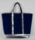Vanessa bruno style sac cabas femme bleu marine sac cabas sequins argent cadeau femme noel sac cabas shopping bleu marine fourre tout