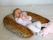 Coussin d'allaitement tissu petit leopard tout doux