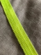 Cabas m lin chiné paillettes jaune fluorescent pour cyrielle style vb